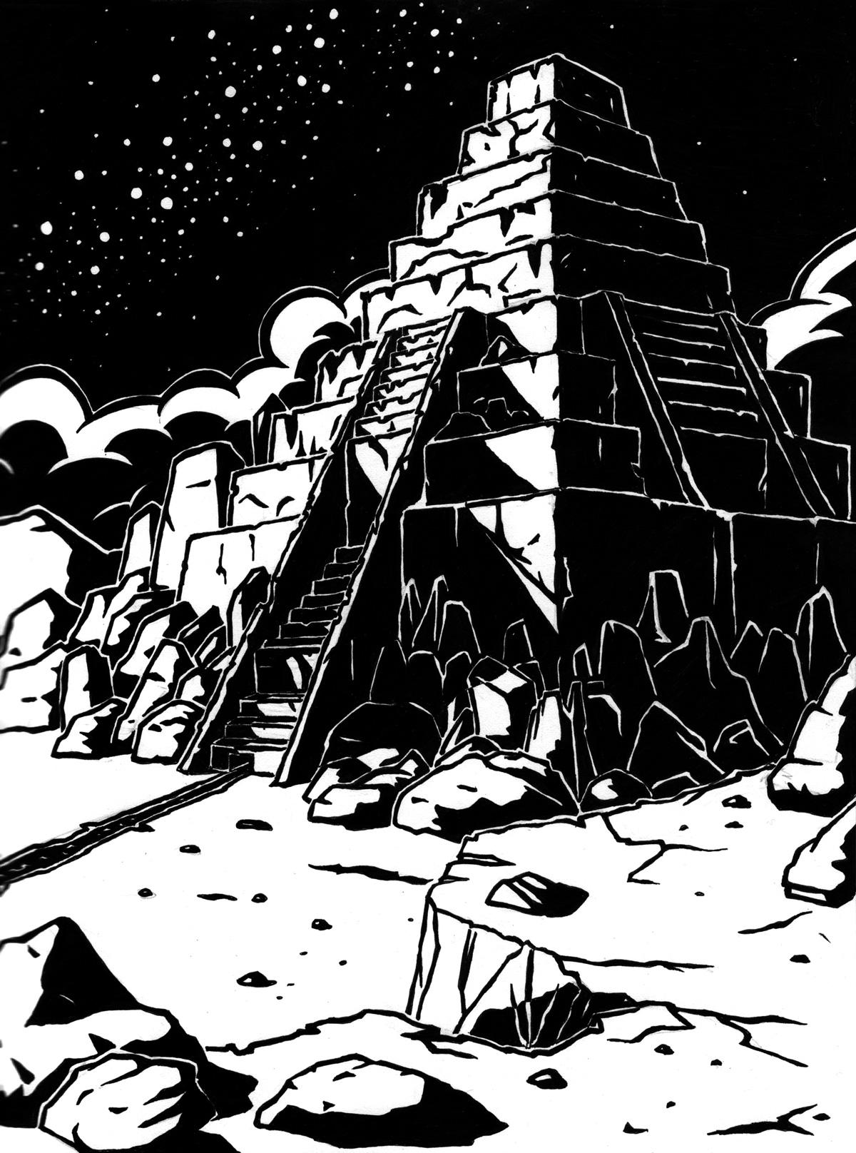 Soleil noir, pyramide